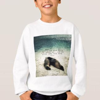 Love romantic couple quote beach Emily Bronte Sweatshirt