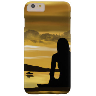 Love, romantic sunset on the beach barely there iPhone 6 plus case