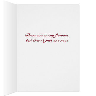 Love Rose Note Card