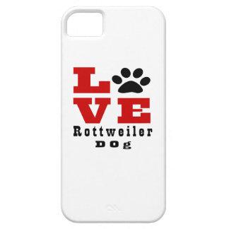 Love Rottweiler Dog Designes iPhone 5 Cover
