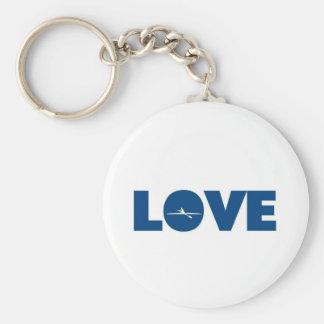 Love rowing basic round button keychain