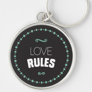 Love Rules Keychain – Black