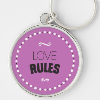 Love Rules Keychain – Editable Background