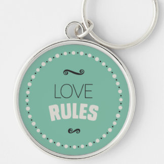 Love Rules Keychain – Green