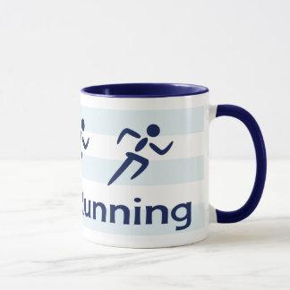 Love running slogan blue mug