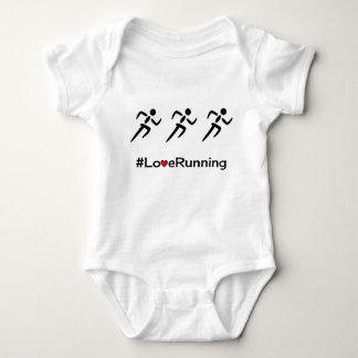 Love Running slogan runners Baby Bodysuit
