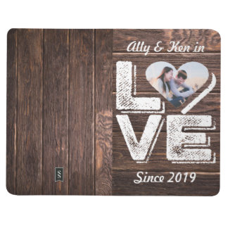 Love Rustic Woodland Photo Heart Frame Monogram Journal