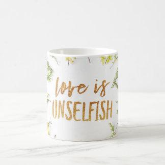 Love s Unselfish, green leaves Coffee Mug