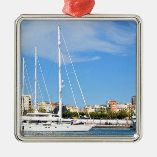 Love sailing metal ornament