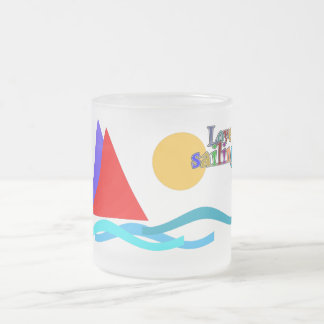 love sailing sulk 10 oz frosted glass coffee mug