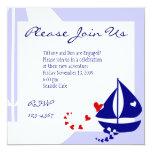 """Love Sails 5.25"""" Square Invitation Card"""