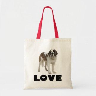 Love Saint Bernard Puppy Dog Canine