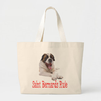 Love Saint Bernard Puppy Dog Canine Large Tote Bag