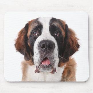 Love Saint Bernard Puppy Dog Mousepad