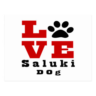 Love Saluki Dog Designes Postcard