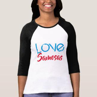 love samosas funny desi indian t-shirt design
