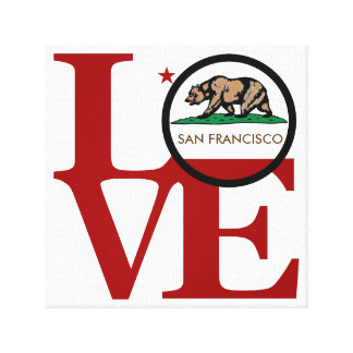 LOVE San Francisco Canvas Print