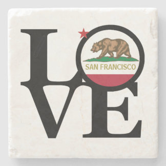 LOVE San Francisco Stone Coaster