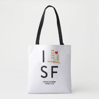 Love San Francisco Travel or Wedding Welcome Tote Bag