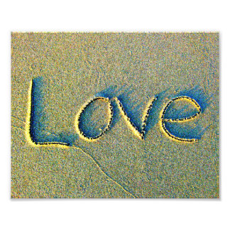 Love Sand Writing Photo