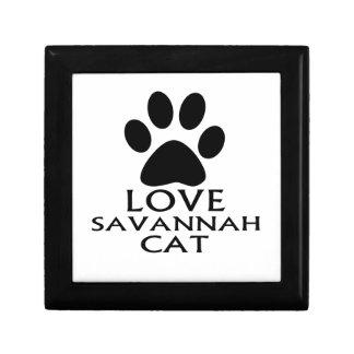 LOVE SAVANNAH CAT DESIGNS GIFT BOX