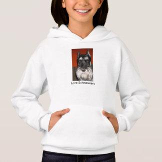 Love Schnauzer Dogs Hoodie
