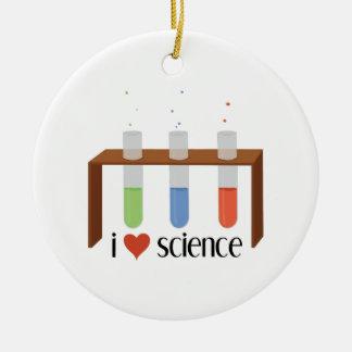 Love Science Ceramic Ornament