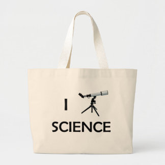 Love Science Telescope Large Tote Bag