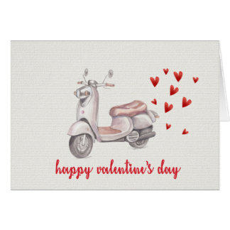 Love Scooter | Valentines Day Card