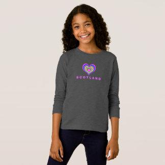 Love Scotland Colour Heart T-Shirt