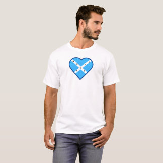 Love Scotland Sky Blue & White Cross Saltire Flag T-Shirt