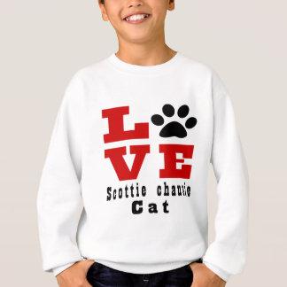 Love Scottie chausie Cat Designes Sweatshirt