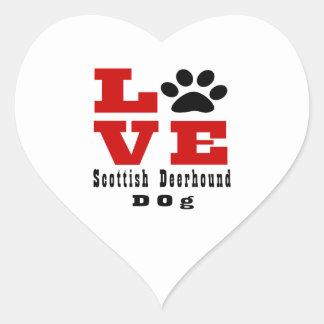 Love Scottish Deerhound Dog Designes Heart Sticker