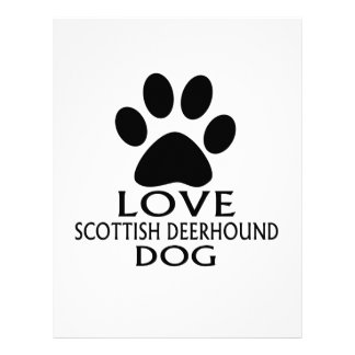 LOVE SCOTTISH DEERHOUND DOG DESIGNS LETTERHEAD