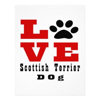 Love Scottish Terrier Dog Designes Custom Letterhead