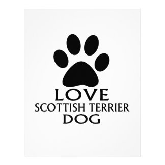 LOVE SCOTTISH TERRIER DOG DESIGNS LETTERHEAD