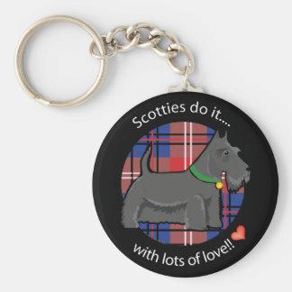 Love Scotty Basic Round Button Keychain