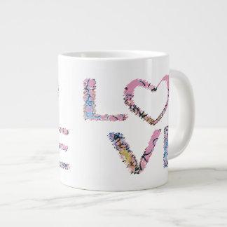 Love Scribbled Large Coffee Mug
