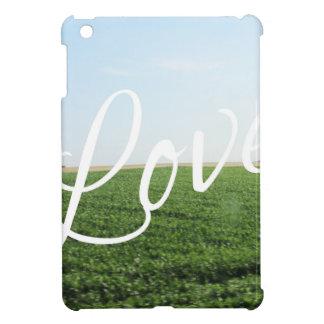 Love Script Typography Nature Grassy Meadow iPad Mini Cases
