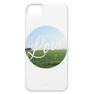 Love Script Typography with Nature Photography iPhone 5 Cases