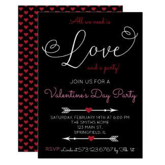 Love Script Valentine's Day Party Invitation
