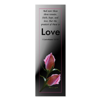 Love Scripture Profile Card Double-Sided Mini Business Cards (Pack Of 20)