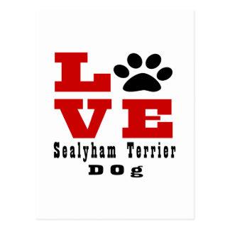 Love Sealyham Terrier Dog Designes Postcard