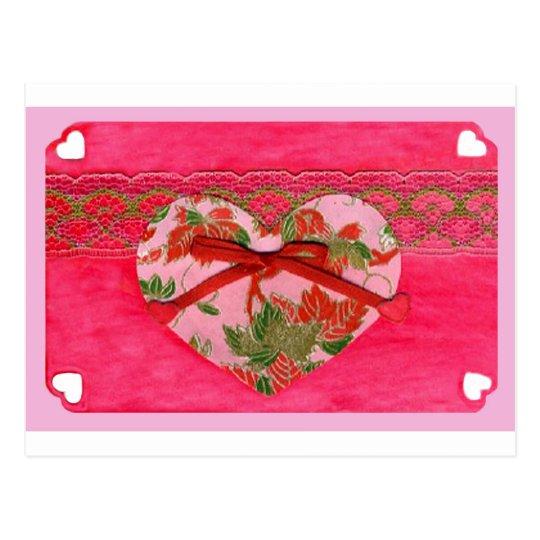 Love  Series  Collage - Heart # 8 Postcard