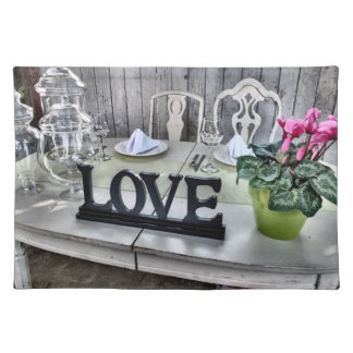 LOVE - Shabby Chic Outdoor Wedding Reception Placemat