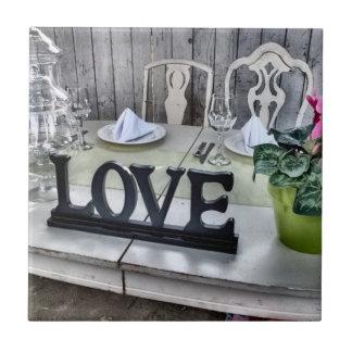 LOVE - Shabby Chic Outdoor Wedding Reception Tiles