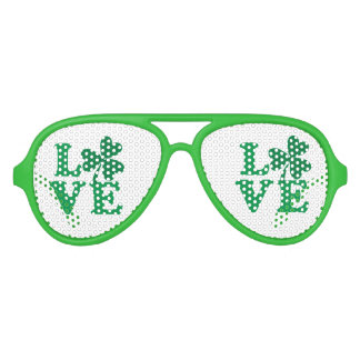 Love-Shamrock Aviator Sunglasses