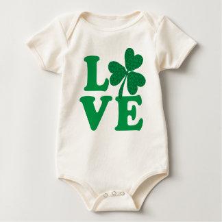 Love-Shamrock Baby Bodysuit