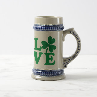 Love-Shamrock Beer Stein