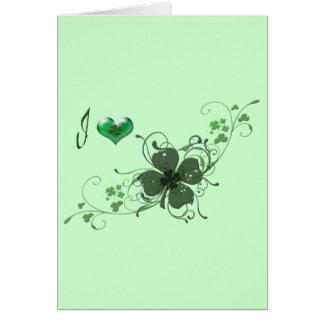 Love Shamrock Design Note Card